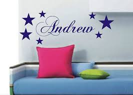 bedroom wall stickers names