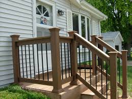 exterior wood railing. front porch railings ideas 2017 also patio inspirational spaces for artful pictures rope railing trex deck rail building exterior wood d