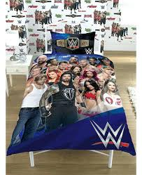 wwe comforter set full size bedding set full face v heel single panel duvet cover and pillowcase set full