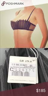 La Perla Graphique Couture Black Silk Bra B C D Rare Amazing