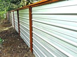 corrugated metal fence ideas corrugated metal fence wood and metal fence how to build corrugated metal