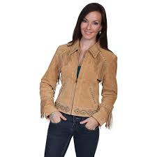 diabolito scully fringed suede leather jacket old rust l224 126