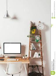minimal office. Minimal Office On White Background. Stock Image - Of Briefcase, Interior: 45132393 H