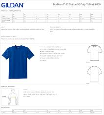 Faithful Gildan T Shirts Sizing Chart Gildan 2000 T Shirt