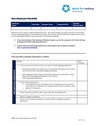 Free New Employee Department Orientation Checklist Templates At