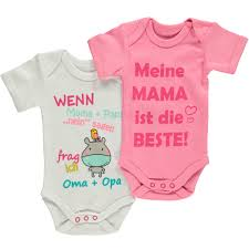 Baby Sprüche Body Im 2er Pack Pink Awg Mode