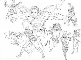 Small Picture Justice league coloring pages all superheroes ColoringStar
