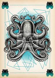 Fototapeta Tetování Ilustrace Chobotnice Tečka Práce