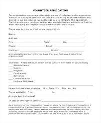 volunteer template sample volunteer application form for non profit skills assessment