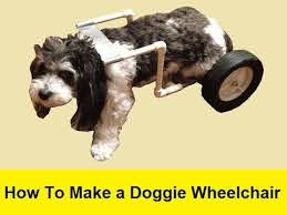 how to make a doggie wheelchair for 25