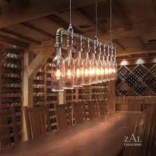 creative creations lighting. Creative Light Fixture Using Wine Bottles. This Would Work In A Cellar. It Also Add To The Ambiance An Industrial Or Rustic Restaurant. Creations Lighting