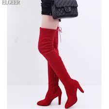 <b>ELGEER</b> Woman <b>Shoes</b> Autumn Zip Thick Heel Thigh High Boot ...
