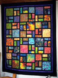 Stained Glass Quilt Pattern Adorable Batiks And Black Solid For Sashing And Borderslooks Like Stained