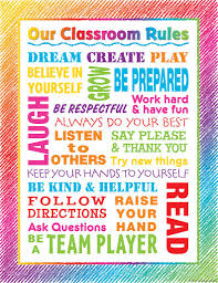 Colorful Scribble Our Classroom Rules Chart