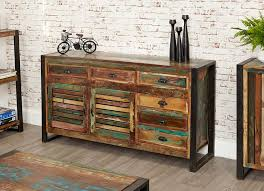 unique industrial furniture. Unique Contemporary Large Sideboard With Six Drawers The Exclusive Urban Chic Range Is Made Using Reclaimed Wood Salvaged From Old Buildings In Places Such Industrial Furniture E