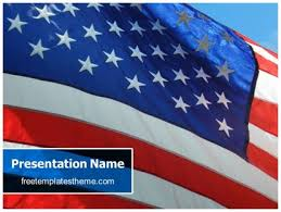 Free Usa Flag Powerpoint Template Freetemplatestheme Com