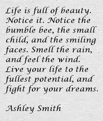 Fight For Your Life Quotes Ashley Smith Quote About Life and Beauty Awesome Quotes About Life 50