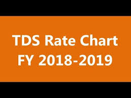 Tds Rate Chart For Fy 2013 14 Tds Rate Chart Fy 2018 2019 Tds Rates For The Financial Year 2018 2019