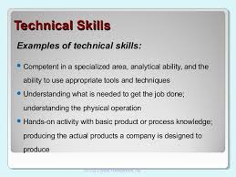 Technical Skills Examples Lecture Ppt Leadership Skills Examples Of