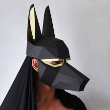 Card Masks To Decorate ANUBIS Mask Easy to make Egyptian mask LowPoly card mask 29