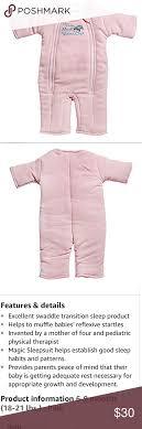 Merlin S Magic Sleepsuit Sizing Chart Pink Baby Merlins Magic Sleepsuit Size 6 9 Months