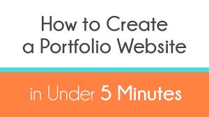 how to create a portfolio website in under minutes