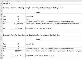 Factoring In The Time Value Of Money With Excel Journal Of