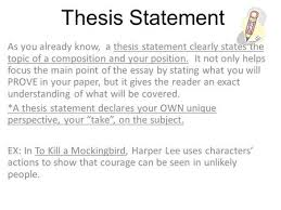 theme statements vs topics theme a lesson the reader learns from  thesis statement as you already know a thesis statement clearly states the topic of a
