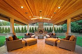 Fine Covered Patio Designs With Fireplace Contemporary Outdoor Seating For Beautiful Ideas