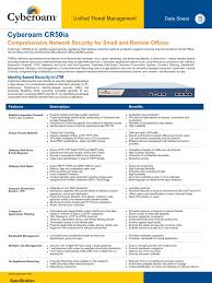 Home Network Security Appliance Cr 50ia Datasheet Communications Protocols Computer Network