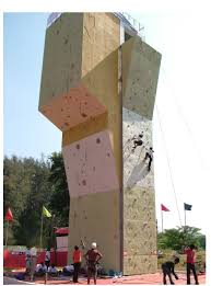 the pcmc wall in better times photo courtesy shrikrishna  on artificial rock climbing wall in pune with an experiment in pune part 1 outrigger