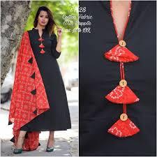 Kalamkari Churidar Neck Designs For Stitching 230 Latest Kurti Neck Designs For Salwar Suit 2019 Images