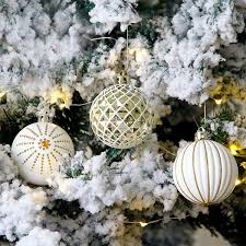Großhandel Inhoo Christbaumschmuck 30 Teile Satz Platin Gold Weihnachtskugeln Flitter 6 Cm überzug Weihnachten Party Decor Ball Für Haus 2019 Von