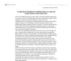 a comparison of wordsworth s i wandered lonely as a cloud and  document image preview