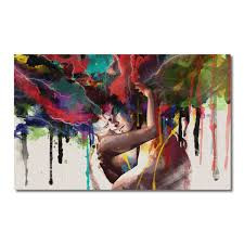 90x60cm abstract couple canvas painting print art picture  on modern canvas painting wall art with 90x60cm abstract couple canvas painting print art picture home wall