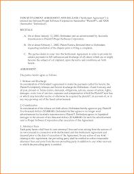settlement agreement template settlement agreement letter sample