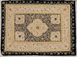 absolutely exquisite 100 handmade kashmir zardozi royal jewel carpet rug wall hanging with semi precious stones and amazingly intricate zardozi hand