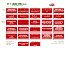 Weekly Menu WEEKLY MENU – Eat Good Cafe