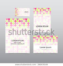 Buisness Greeting Cards Set Greeting Cards Business Cards Flyer Stock Vector Royalty Free