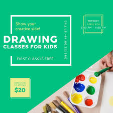 Advertisement Poster For Drawing Lessons For Kids Instagram Post