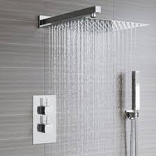 contemporary shower heads. Square Concealed Thermostatic Mixer Shower Kit \u0026 Large Head Contemporary Heads D