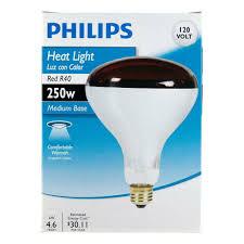 R40 Flood Light Bulbs Philips 415836 Heat Lamp 250 Watt R40 Flood Light Bulb 4 Pack