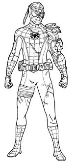 Spiderman coloring pages for kids. Spider Man Superhero Coloring Pages