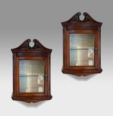 pair of antique glazed cabinets