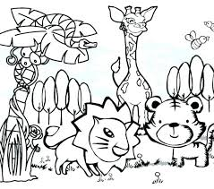 Zoo Animal Coloring Pages To Print Zoo Animals Coloring Page For