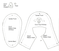 Shoe Pattern Inspiration This Is A Doll Shoe Pattern But Enlarge It To Make Baby Shoes