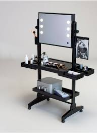 lighting for vanity makeup table. a perfect vanity table on wheels to set up rolling makeup station for schools selected and certified ash wood with lights specifically engineered lighting