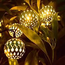 LED Solar Globe <b>String Lights</b>, Hann 12ft 10 LEDs <b>Moroccan</b> Orb ...