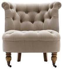 armless accent chairs amazing design of chair tufted natural inside 19