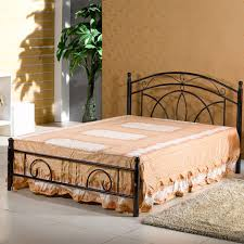 rot iron furniture. House Tiechuang Korean Furniture , Wrought Iron Double Bed 606 White / Rot